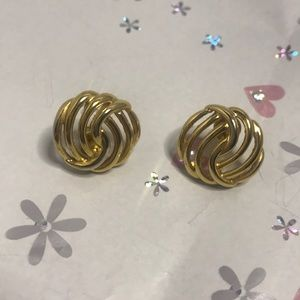 Monet Goldtone Pierced Earrings